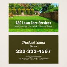 lawn care landscaping services appointment card zazzle com