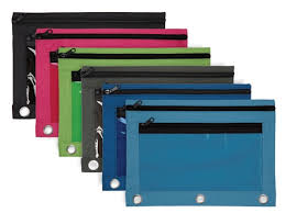 pencil bag pencil pouch with clear window assorted color by office depot