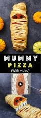 easy halloween appetizers recipes easy halloween mummy pizza tipbuzz