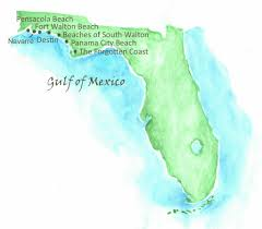Fort Walton Florida Map by Beaches Of Northwest Florida Map Southern Vacation Rentals