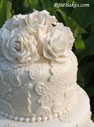 wedding cake roses vintage lace wedding cake with sugar roses