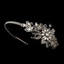 tiaras uk bonnie swarovski floral side tiara wedding hair