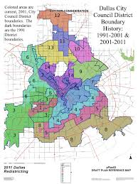 Dallas Map by Dallas Redistricting 2011 Dallas City Council Redistricting