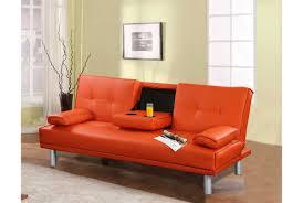 Orange Sofa Bed by Bright Coloured Leather Sofa Bed Revistapacheco Com