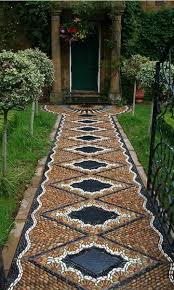 Backyard Decor Pinterest Rock Mosaics For Garden Garden Decor Amazing River Stone Mosaic
