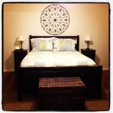 hemnes bedroom furniture from ikea mixed with a wicker trunk and
