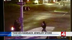 halloween city dearborn thieves use truck to smash into dearborn jewelry store