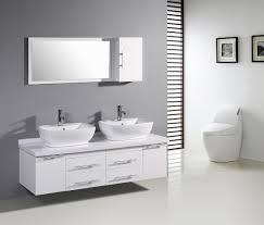 delectable look using modern bathroom vanities with vessel sinks