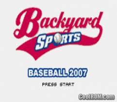 Backyard Baseball 2004 Download Backyard Baseball 2007 Rom Download For Gameboy Advance Gba