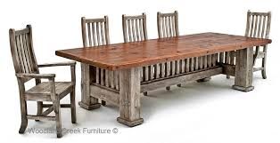 mission dining room table reclaimed barnwood dining table mission style dining