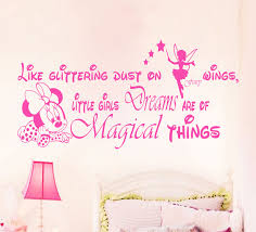 how to decorate girls room with personalized vinyl wall stickers little girls dreams magical things wall quote