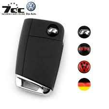 logo volkswagen das auto 2pcs key fob logo german flag badge vw r gti emblem fit vw key