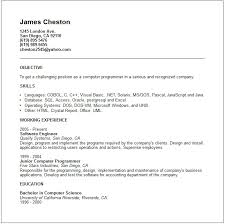 Computer Resume Examples by Computer Programmer Job Description Resume Recentresumes Com