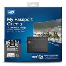 amazon com western digital wd my passport cinema 1tb 4k uhd