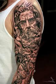 mens sleeve ideas black and grey sleeve