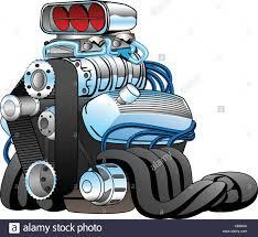 cartoon race car rod race car engine cartoon vector illustration stock vector