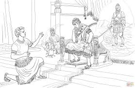 daniel interprets nebuchadnezzar u0027s dream coloring page free