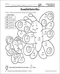 addition coloring worksheet worksheets
