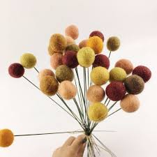 billy balls oinjeas 30pc wool balls yellow billy flowers buttons