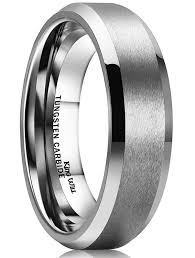 tungsten wedding ring 8mm tungsten metal s wedding band ring in comfort fit and