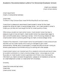 brilliant ideas of academic recommendation letter sample for