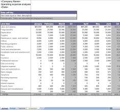 Business Expenses Excel Template Business Operating Expenses Excel Worksheet