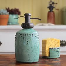Handmade Bathroom Accessories by Soap Bottle Dispenser In Aqua Mist Lotion Bottle Or Dish