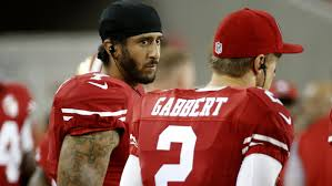 colin kaepernick qb colin kaepernick refuses to stand for national anthem in