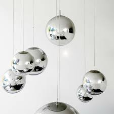 Chrome Pendant Lighting Outstanding Modern Tom Dixon Mirror Glass Pendant Lights