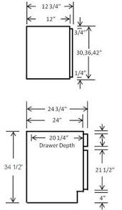 Kitchen Cabinet Blueprints by Kitchen Cabinet Sizes Chart The Standard Height Of Many Kitchen