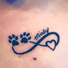 my tattoo in memory of my dog of 10 and a half years love it