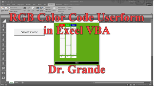 rgb red green blue color code adjustment userform in excel vba