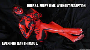 Darth Maul Meme - rule 34 every time without exception even for darth maul