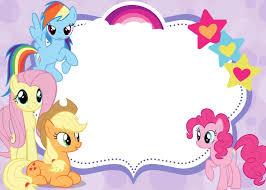 free printable invitations my pony