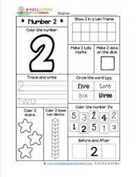 number worksheets number 2 worksheet barb ice pinterest