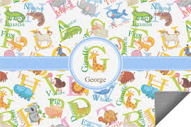 Personalized Outdoor Rugs Animal Alphabet Indoor Outdoor Rug Personalized Youcustomizeit