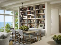 interior modern built in wall shelves with television ceramic