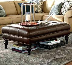 large leather tufted ottoman vintage button tufted leather ottoman ebth tufted leather ottoman