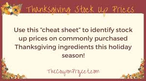 best prices for thanksgiving food items