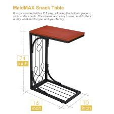 snack table maidmax 24 inch high coffee tray side sofa end table