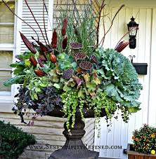 flower decoration in home fall front porch and fabulous urn planter fox hollow cottage arafen
