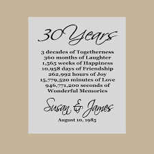 30 year anniversary gift ideas 30 year wedding anniversary gift ideas beautiful best 25 30th