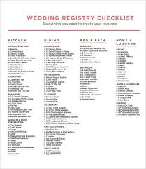 wedding registry list printable wedding checklist 9 free pdf documents