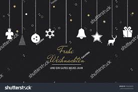 card german words merry stock vector 740264833