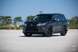 red lexus truck lexus lx 570 gets murdered out look and vossen wheels autoevolution
