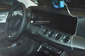 mercedes benz e class interior spyshots 2017 mercedes benz e class interior fully revealed ahead