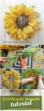 60 fabulous fall diy projects to decorate and beautify your home 1 sunflower wreath