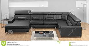 living room modern furniture a modern minimalist living room with leather sofa stock photo