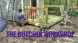 home butcher shop part 3 layout flooring sink u0026 handrail youtube