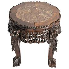 chinese rosewood side table chinese carved rosewood and marble side table for sale at 1stdibs